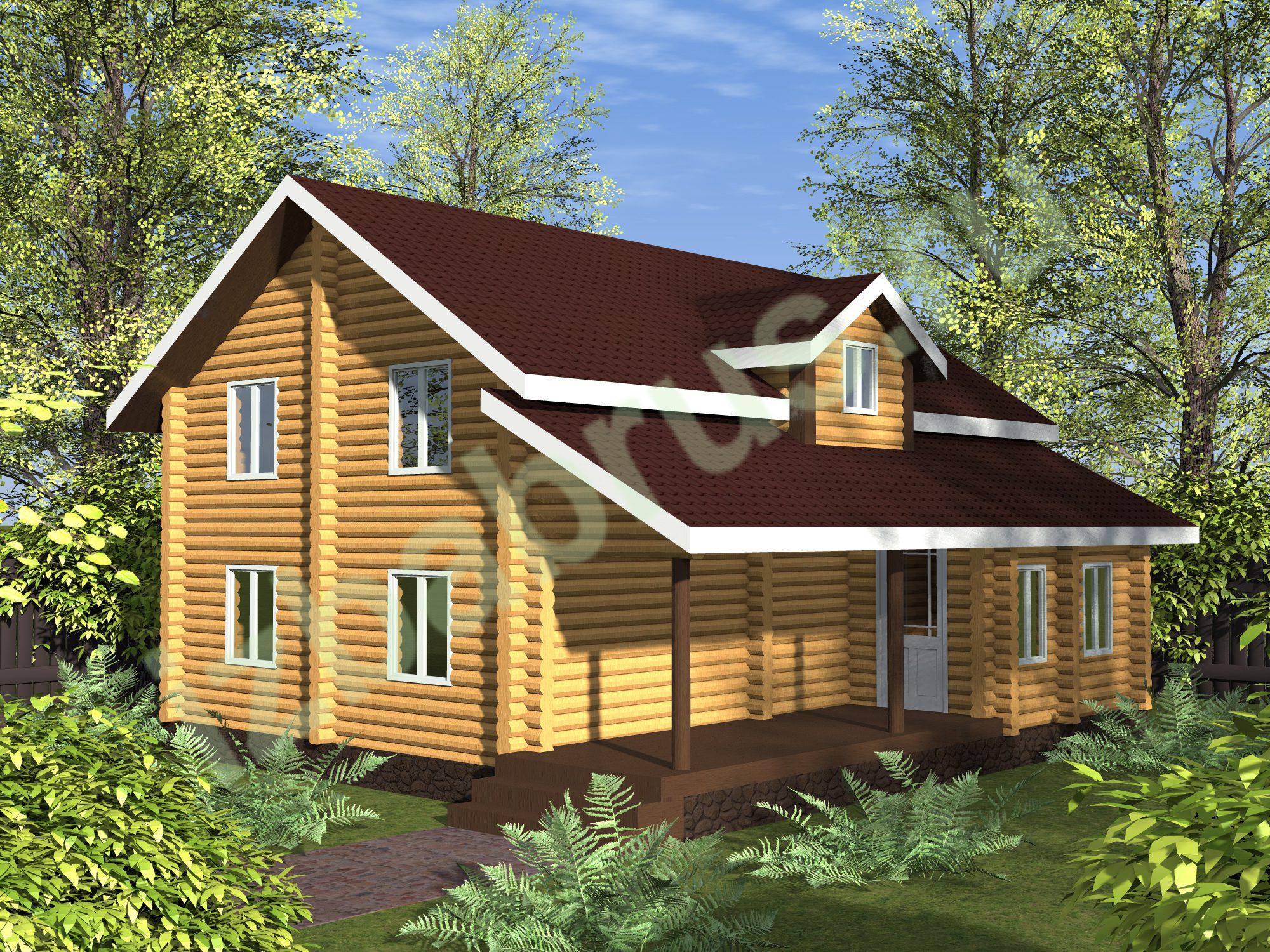 Дом Бревно 3 (1)