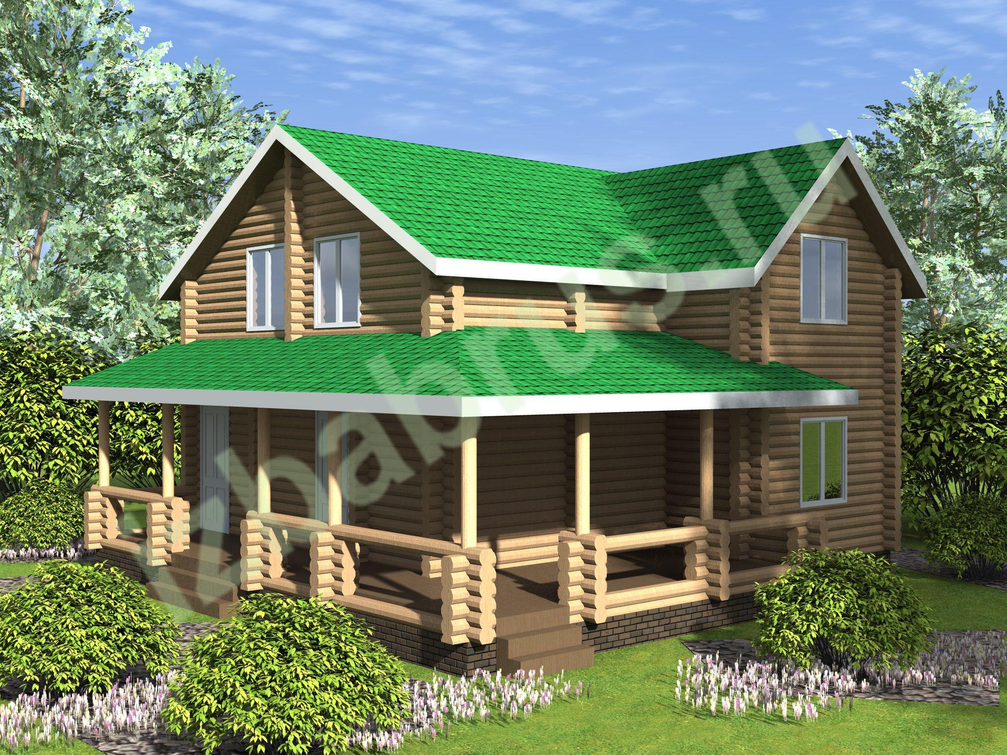Дом Бревно 10  (1)